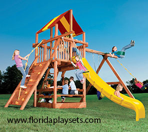 Play King, your Davie Florida Woodplay and Childlife playset and swingset dealer.